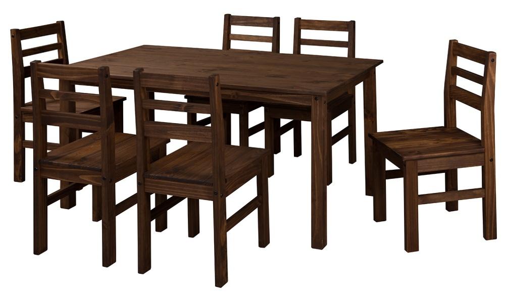 86ca520eb Conjunto Mesa e 6 Cadeiras Julia em Pinus